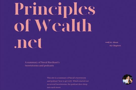 Principles Of Wealth