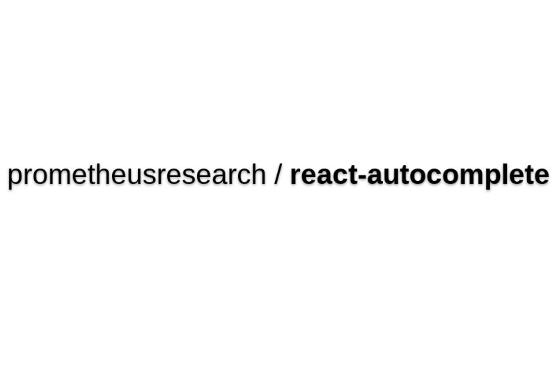 React-autocomplete By @prometheusresearch - Autocomplete Widget Based On React