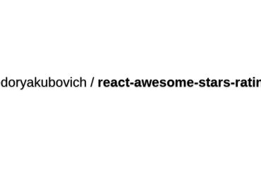 React-awesome-stars-rating