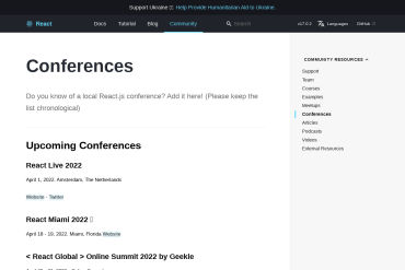React Conferences