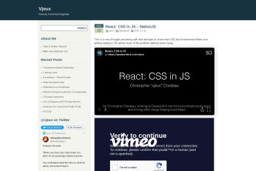 React: CSS In JS
