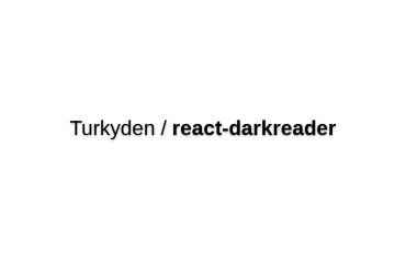 React-darkreader
