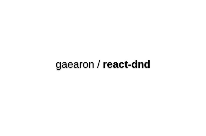 React-dnd
