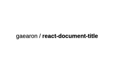 React-document-title