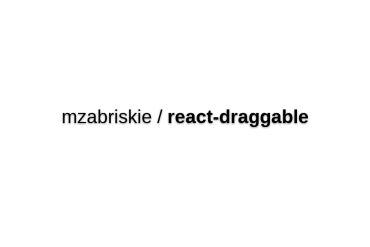 React-draggable