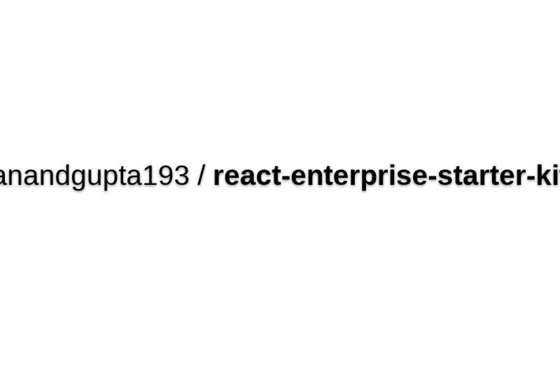 React-enterprise-starter-kit