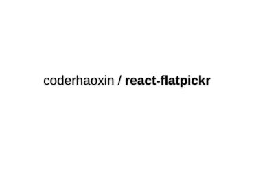 React-flatpickr