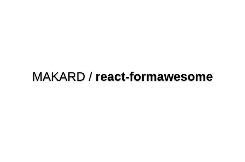 React-formawesome