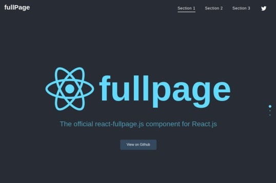React Fullpage