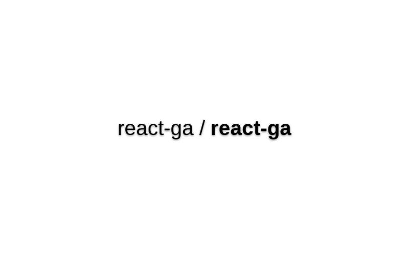 React-ga