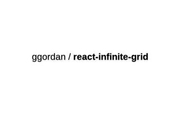 React-infinite-grid