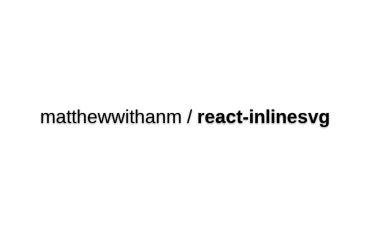 React-inlinesvg