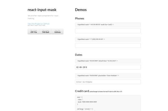 React Input Mask