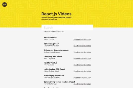 React.js Videos