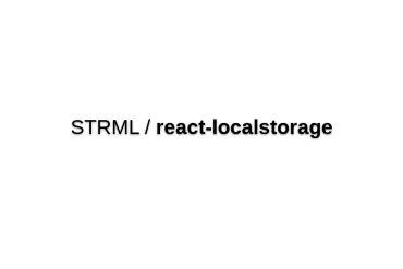React-localstorage