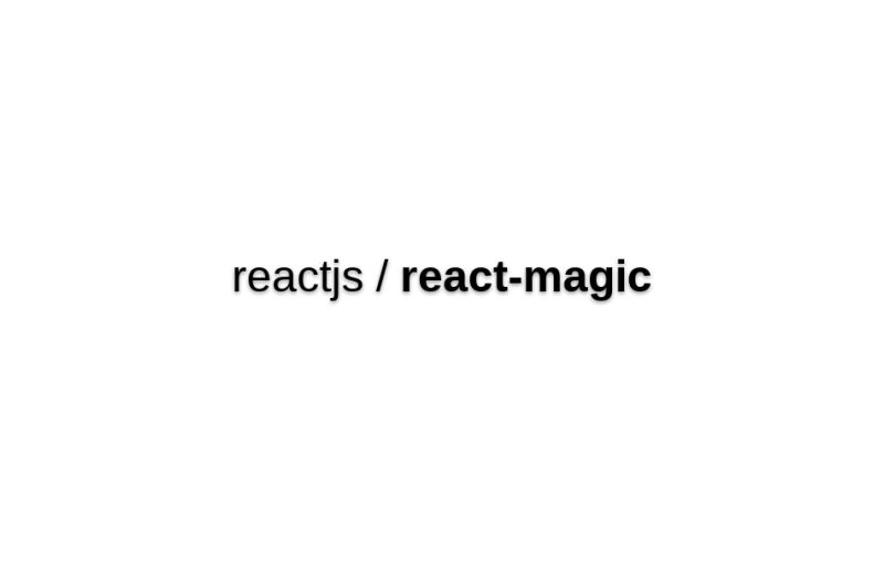 React-magic - Automatically AJAXify Plain HTML With The Power Of React