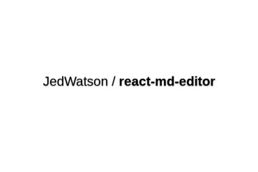 React-md-editor
