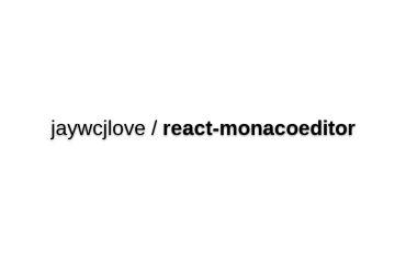 React-monacoeditor