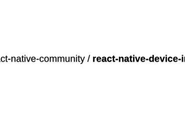 React-native-device-info
