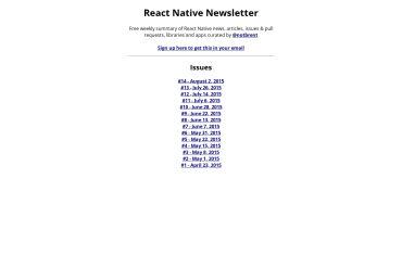 React Native Newsletter