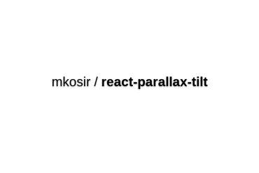 React-parallax-tilt