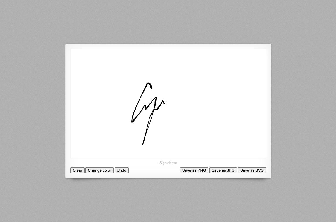 React Signature Pad Wrapper
