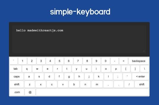 React Simple Keyboard