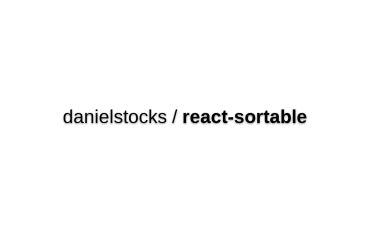 React-sortable