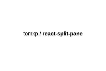 React-split-pane