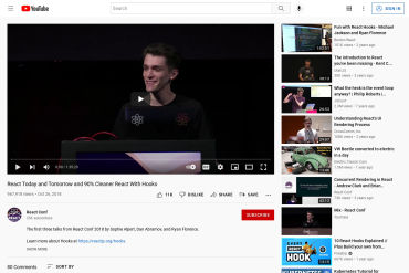 React Today And Tomorrow And 90% Cleaner React With Hooks - React Conf 2018