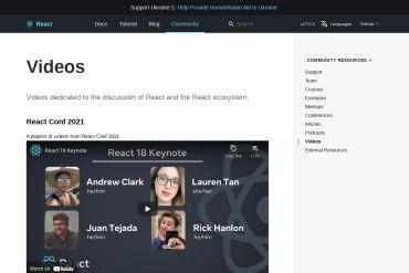 React Videos