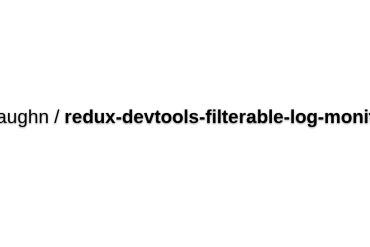 Redux-devtools-filterable-log-monitor