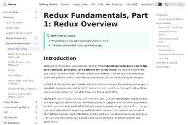 Redux Fundamentals