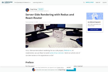 Server-Side Rendering With Redux And React-Router