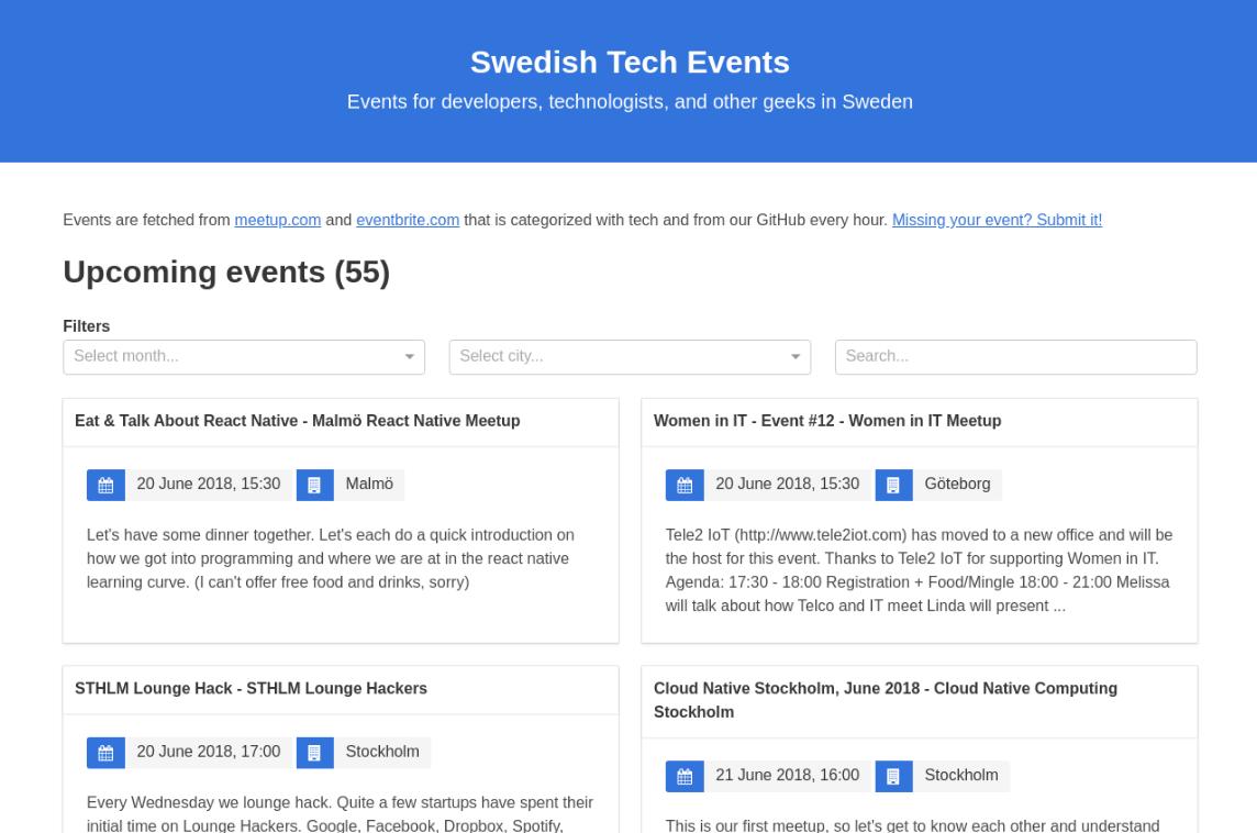 Swedish Tech Events