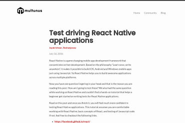 Test Driving React Native Applications