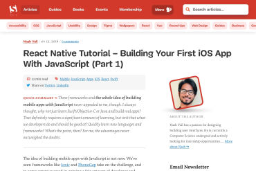 The Beauty Of React Native: Building Your First IOS App With JavaScript (Part 1)