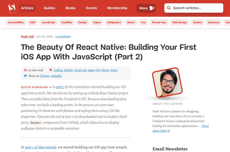 The Beauty Of React Native: Building Your First IOS App With JavaScript (Part 2)