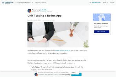 Unit Testing Redux Apps
