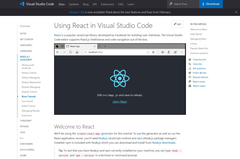 Using React In Visual Studio Code