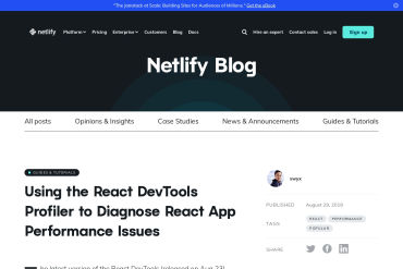 Using The React DevTools Profiler To Diagnose React App Performance Issues