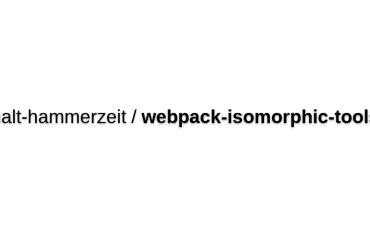 Webpack-isomorphic-tools