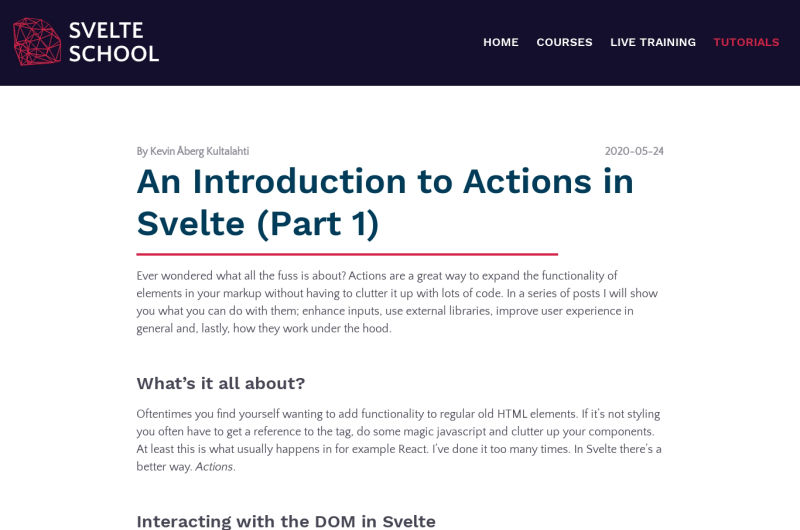 An Introduction To Actions
