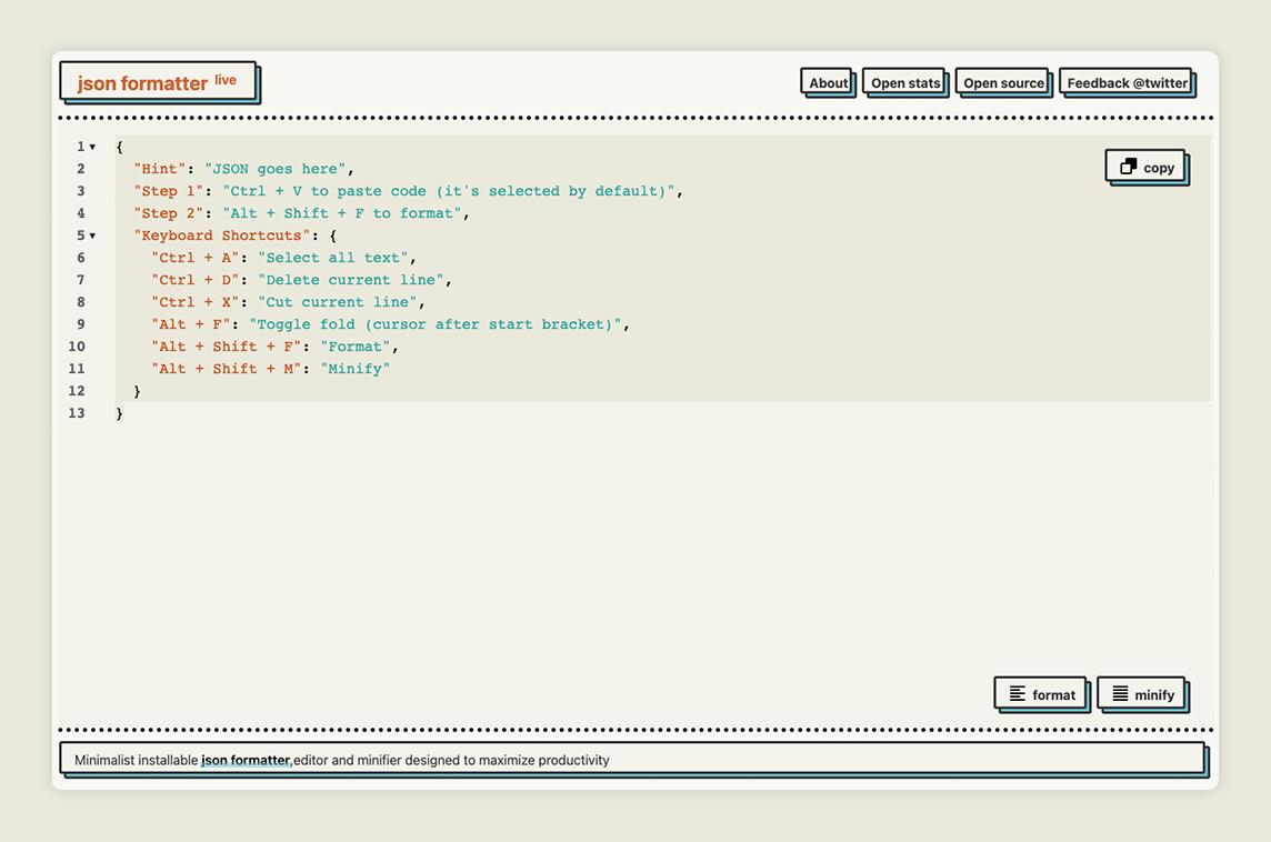 JSON Formatter Live