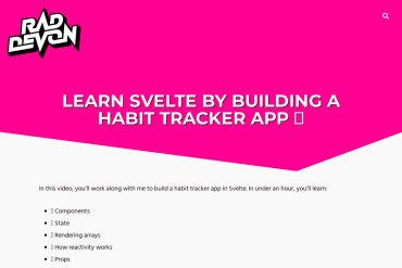 Learn Svelte By Building A Habit Tracker App