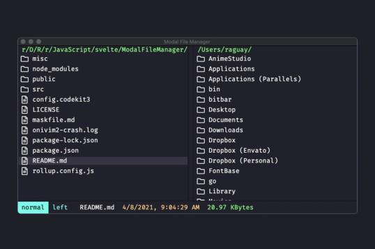 Modal File Manager