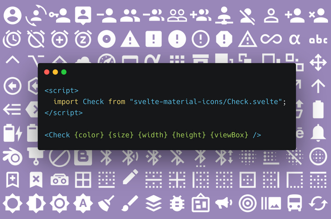 Svelte Material Icons