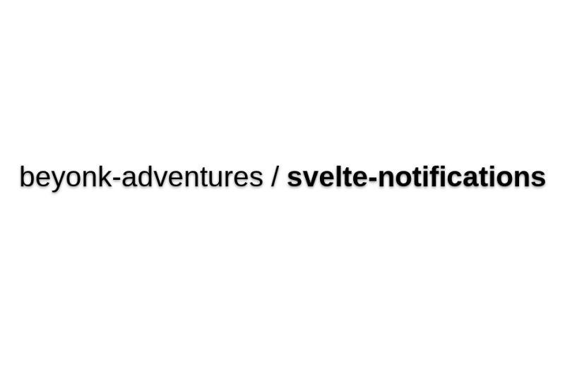 Svelte-notifications