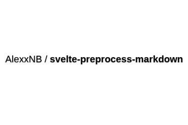 Svelte-preprocess-markdown