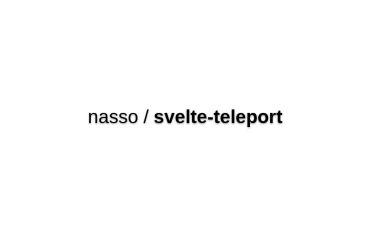 Svelte-teleport